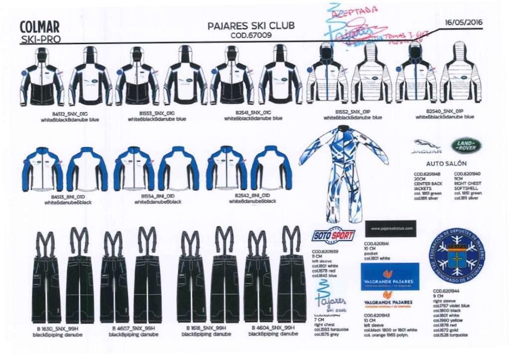 Equipacion Pajares Ski Club 2016-2017